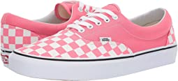 (Checkerboard) Strawberry Pink/True White