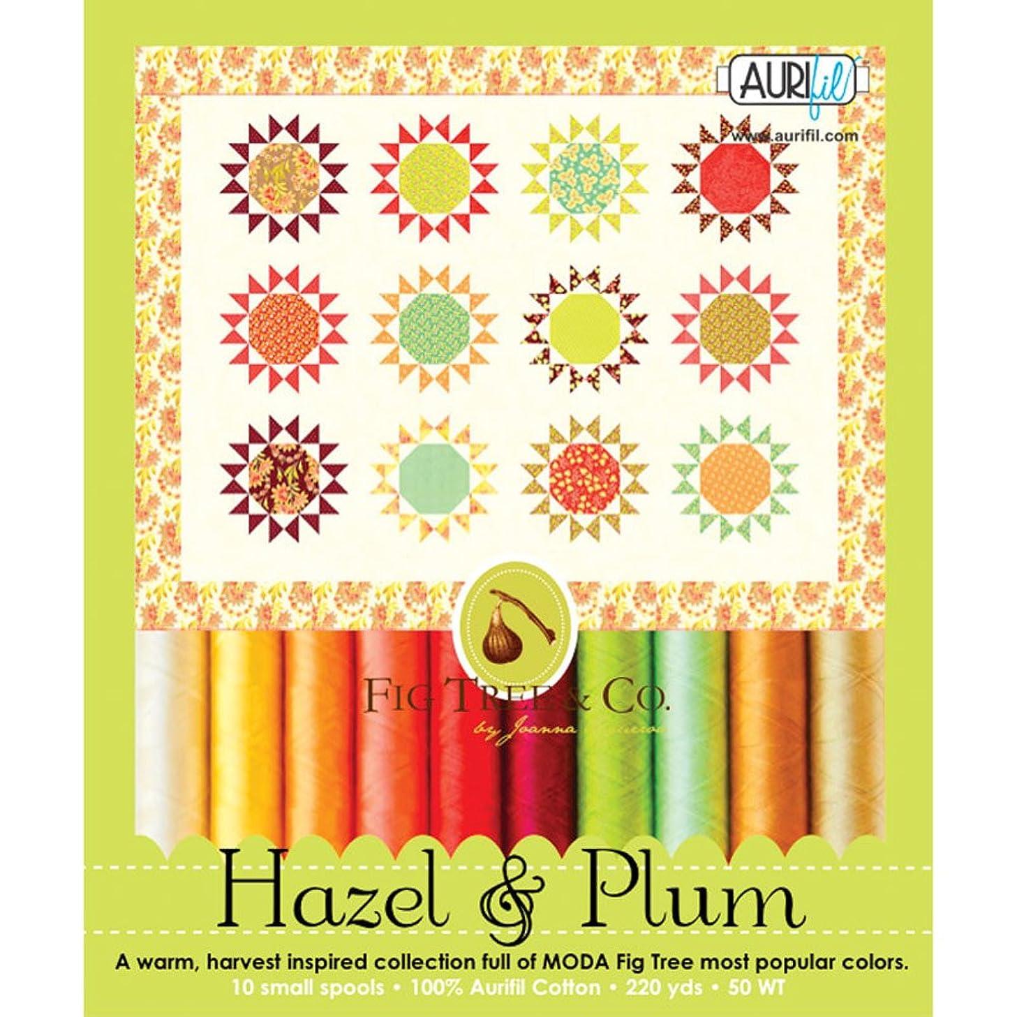 Fig Tree and Co Hazel & Plum Aurifil Thread Kit 10 Small Spools 50 Weight JF50HP10