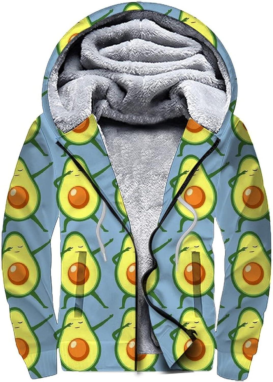 Hoodies for Men and Women Fleece Sweatshirt Winter Full Zip Hoodie Warm Thick Coats S-3XL