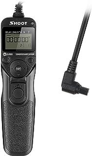 SHOOT RS-80N3 Cable del Disparador Remoto del Temporizador de Pantalla LCD para Canon EOS 5D 6D 7D 10D 20D 30D 40D 50D D30 D60 EOS 5D Mark II 5D Mark III EOS 1D 1D Mark II 1D Mark II N 1D Mark III EOS 1Ds 1Ds Mark II 1Ds Mark III