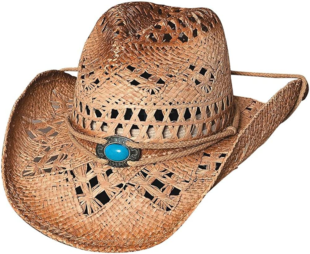 Bullhide Lost in Love Toyo Straw w/Turquoise Center Concho 2591