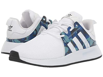 adidas Originals Kids X_PLR C (Little Kid) (White/Blue/Black) Kids Shoes