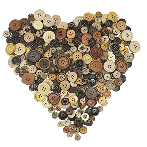 Antique shell buttons in various sizes