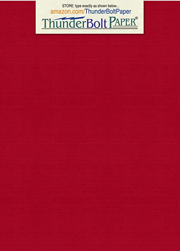 75 Bright Red Linen 80# Cover Paper Sheets - 4.5