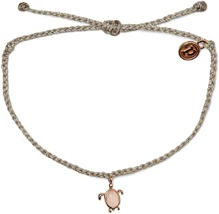 Pura Vida Rose Gold Sea Turtle Bracelet - Waterproof, Adjustable Band