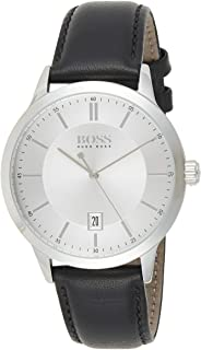 Hugo Boss Mens Quartz Watch, Analog Display and Leather Strap 1513613