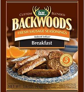 LEM 9163 Backwoods Low Sodium Fresh Breakfast Seasoning (5-Lbs)