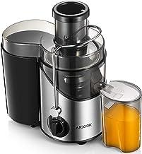 Centrifugeuse pour fruits et légumes, Aicook Centrifugeuse Juicer en acier inoxydable, 65 mm de large, 2 vitesses, protect...