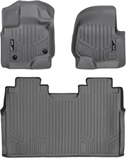 MAXLINER Floor Mats 2 Row Liner Set Grey for 2015-2021 Ford F-150 SuperCrew Cab with 1st Row Bench Seats