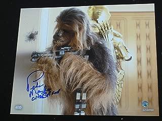 PETER MAYHEW Signed CHEWBACCA 8x10 Photo Autograph Star Wars STEINER & BAS BECKETT COA