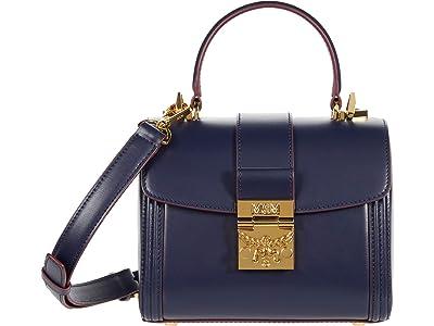 MCM Tracy Satchel Small (Maritime Blue) Handbags