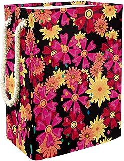 Vockgeng Fleur Lumineuse Accueil Organisation Panier de Rangement imperméable Pliable de Jouets de Jouets de Panier avec d...