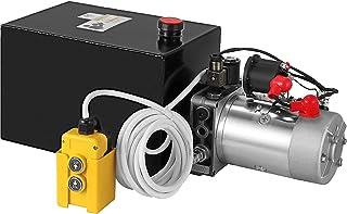 Mophorn Hydraulic Power Unit 8 Quart Pump Double Acting Hydraulic Power 12V DC Metal Reservoir Hydraulic Pump Power Unit for Dump Trailer Car Lifting (8 Quart Steel Double Acting)