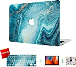 MacBook Case, Laptop Case, Marble Plastic Hard Case, Only Compatible for MacBook 12 Inch Retina Display (A1534) with Keyboard Cover, Screen Protector, Cleaning Brush