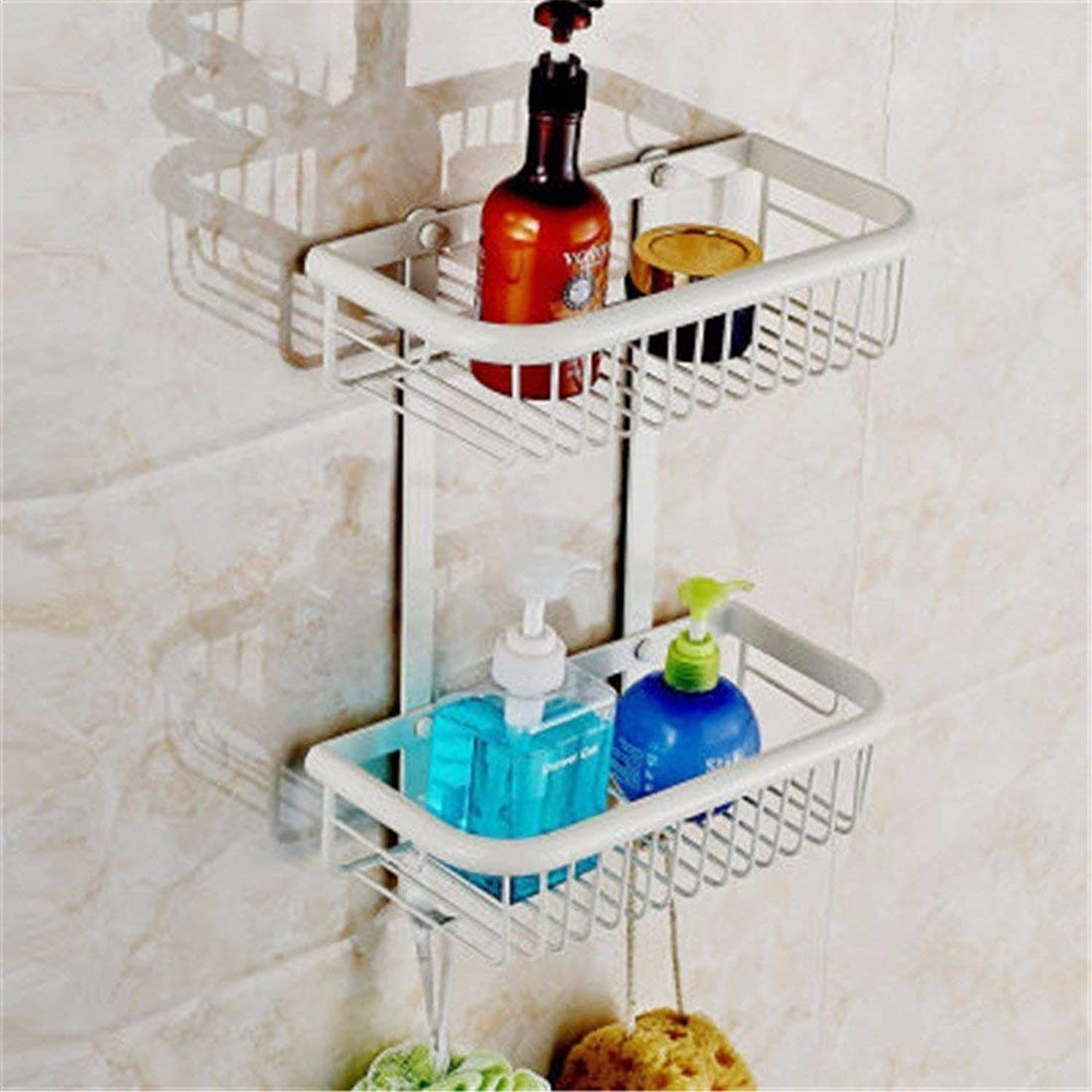 European Copper Bake White gold varnishes Bathroom Costume Coat Hanger Toilet Paper Rack Toilet Brush Frame,Place The Shopping Cart 2