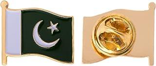 Pakistan Country Flag Lapel Pin Enamel Made of Metal Souvenir Hat Men Women Patriotic Pakistani (Waving Flag Lapel Pin)
