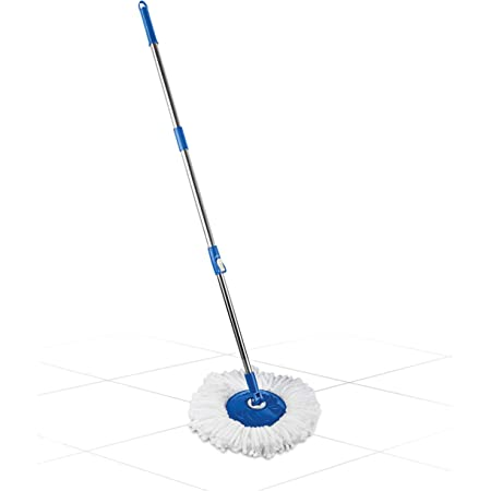 Gala Spin Mop Extendable Handle/Stick Rod with Microfiber Refill (150750)