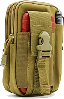 LefRight Tactical Molle Pouch EDC Utility Gadget Outdoor Men Waist Bag with Phone Belt Clip Holder Holster for iPhone 6s/7/X Samsung S8 Pixel Moto Z Force Play