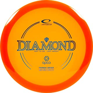 Latitude 64 Opto Diamond Disc Golf Driver   Beginner and Kid Friendly Frisbee Golf Disc   160g and Under   Stamp Color May Vary
