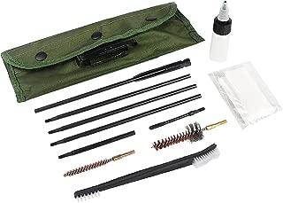Gun Cleaning Kit Set Brushes Cleaner Set Tools Universal Butt Stock for 5.56mm, 20-25 Caliber Rifle Pistol Shotgun