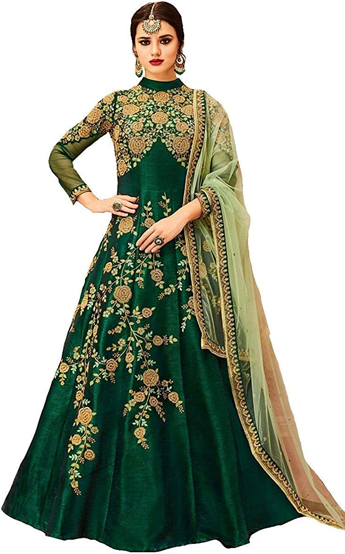 PAKINDI FASHION Women Anarkali SemiStitched Salwar Suit Party wear Dress Suit Designer Lengha