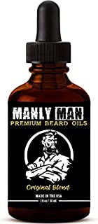 Beard Oil for Men | 100% All Natural Premium Ingredients w/Sandlewood & Cedarwood Essential Oils | Soften, Condition, Grow, and Manage | Official Manly Man Beard Oils