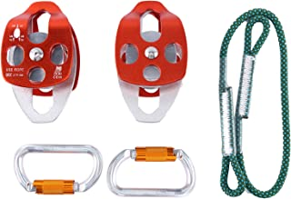 Yaegoo Belay Rigging System Hardware Kit for 5:1 Mechanical Advantage Pulley/Hauling/Dragging System