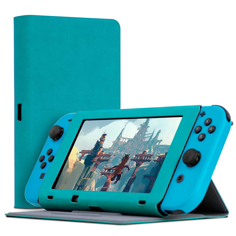 Orzly Funda Tapa y Soporte para la Nintendo Switch, Carcasa Azul ...