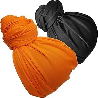 Head Wrap Scarf Head Wrap for women Turban Wrap African Stretch Jersey Long Turban Head Wrap Tie 1 or 2