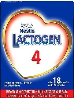 Nestlé LACTOGEN 4 Follow-Up Infant Formula Powder (After 18 months upto 24 months), Stage 4-400g Bag-In-Box Pack