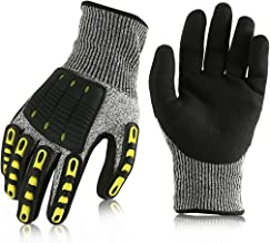 BONSWAGOO Impact Reducing Safety Work Gloves(1 Pair),Cut Resistant Gloves for Racing,Moving,Cutting,Work(Medium)
