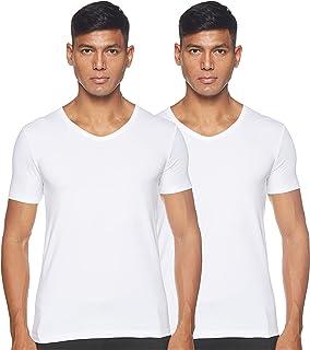 BOSS Men's T-Shirt VN CO/EL(Pack of 2) V-Neck