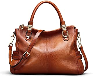 Women's Genuine Leather Purses and Handbags, Satchel Tote Shoulder Bag