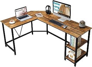 GreenForest L Shaped Corner Desk 65.7 inch with Storage Shelf Long Gaming Desk for Home Office PC...