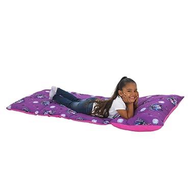 Disney Vampirina - Purple & Pink Deluxe Easy Fold Toddler Nap Mat, Purple, Pink