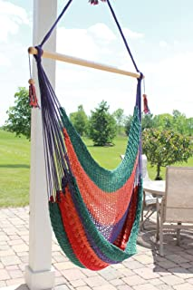 Multi-color Handmade Hammock Swing Chair By Nicaraguan Artisans - Fair Trade Product