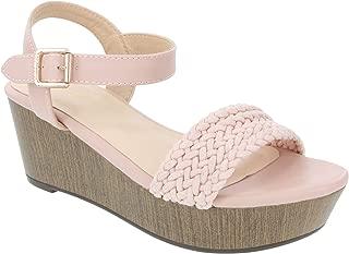 Nautica Women's Birnbach Platform Wedge Sandals Summer Shoes with Buckle