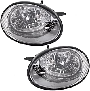 Driver and Passenger Headlights Headlamps with Black Reflector Replacement for Ford XF1Z 13008 BA XF1Z 13008 AA AutoAndArt