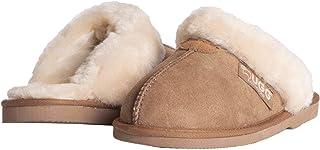 Ever UGG Australian Soft Sheepskin Wool Winter Home Cozy Slippers Women Girls Shoes (Chestnut, Numeric_4)