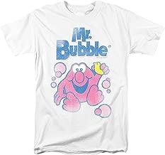 Wopson Men's White Mr Bubble Logo Regular Fit T-Shirt