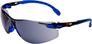 3M Solus安全メガネ、ブルー/ブラックフレーム、スコッチガード防曇、グレーレンズ、S1102SGAF-EU