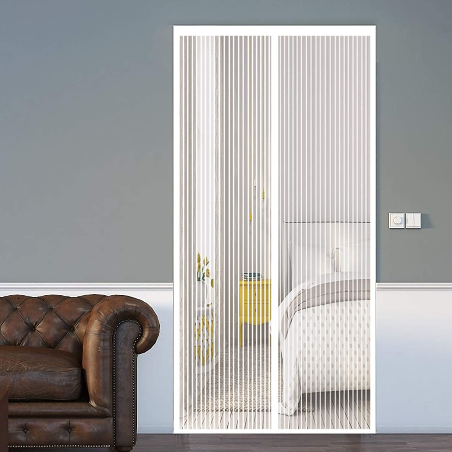 Magnetic Fly Insect Screen Door 170x200cm Max 69% OFF with Walk Heavy Great interest Duty
