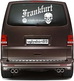 uglyshirt89 Frankfurt Autoaufkleber 45 cm   Hardcore   Sticker   Aufkleber   KSM1