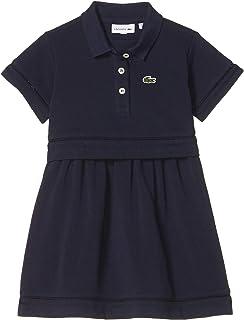 Girls' Short Sleeve Feminine Pique Polo Dress