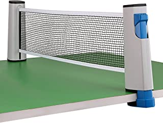 Hipiwe Retractable Table Tennis Net Replacement, Ping Pong Net and Post with PVC Storage Bag, 6 Feet(1.8M, Fits Tables Up to 2.0 inch (5.0 cm)
