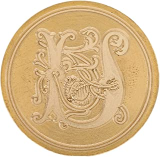 Vintage Classic Alphabet Initial Wax Seal Stamp 26 Letter A - Z Wood Seal |Color - U|