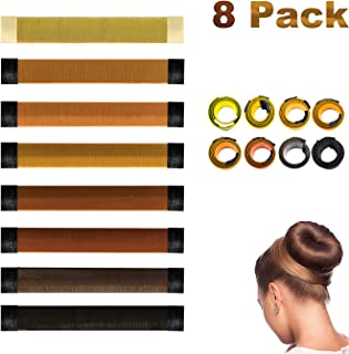 Antallcky Hair Bun Maker-8 pcs French Twist Hair Fold Wrap Snap Magic Bun Shaper Donut Hair Styling DIY Curler Roller Hairstyle Tool Doughnuts Hair Accessories