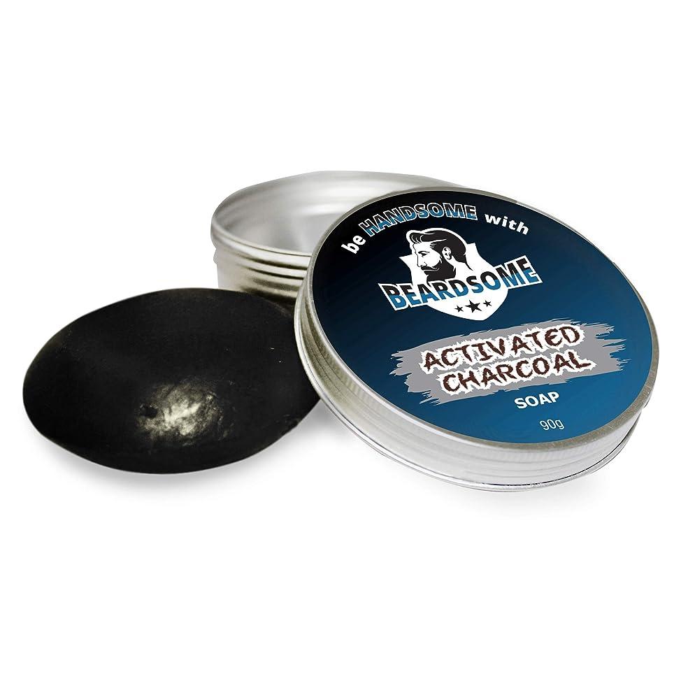 全体クッションフィドルBEARDSOME Activated Charcoal Soap For Men 90g
