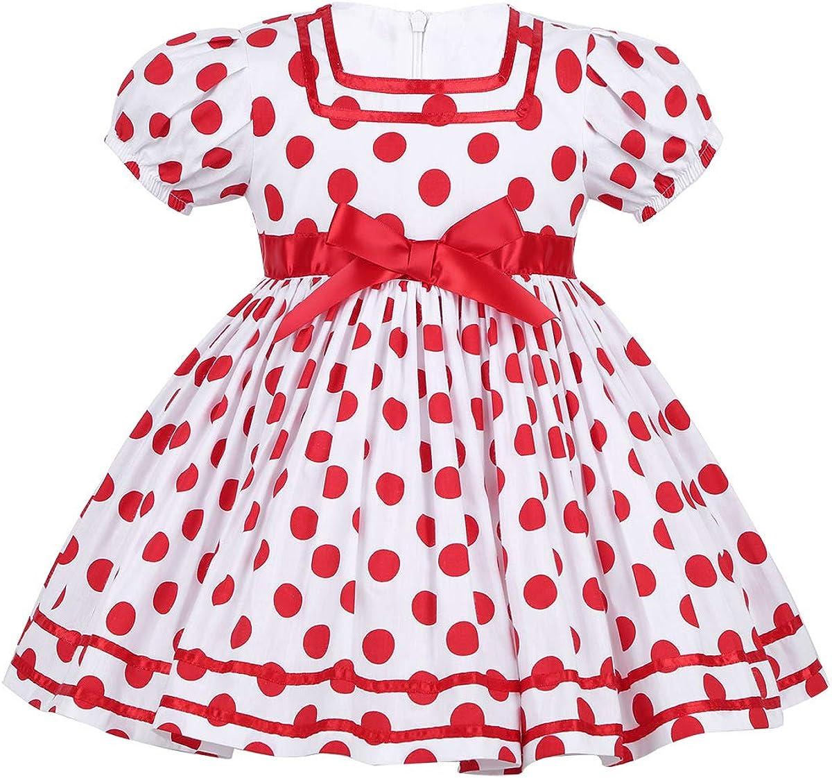 Baby Girl Birthday Dress Christmas Red Twirl Dress