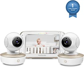 Motorola Video Baby Monitor – 2 Wide Angle HD Cameras with Infrared Night Vision..